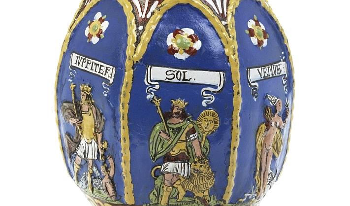 Creussen stoneware Jug Planets 1665 dated