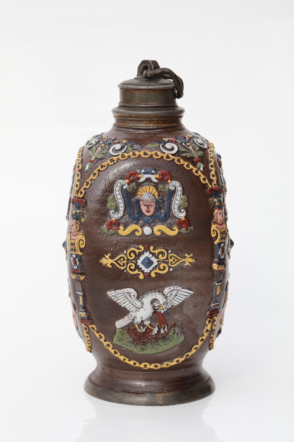 Creussen Vierkantflasche um 1625