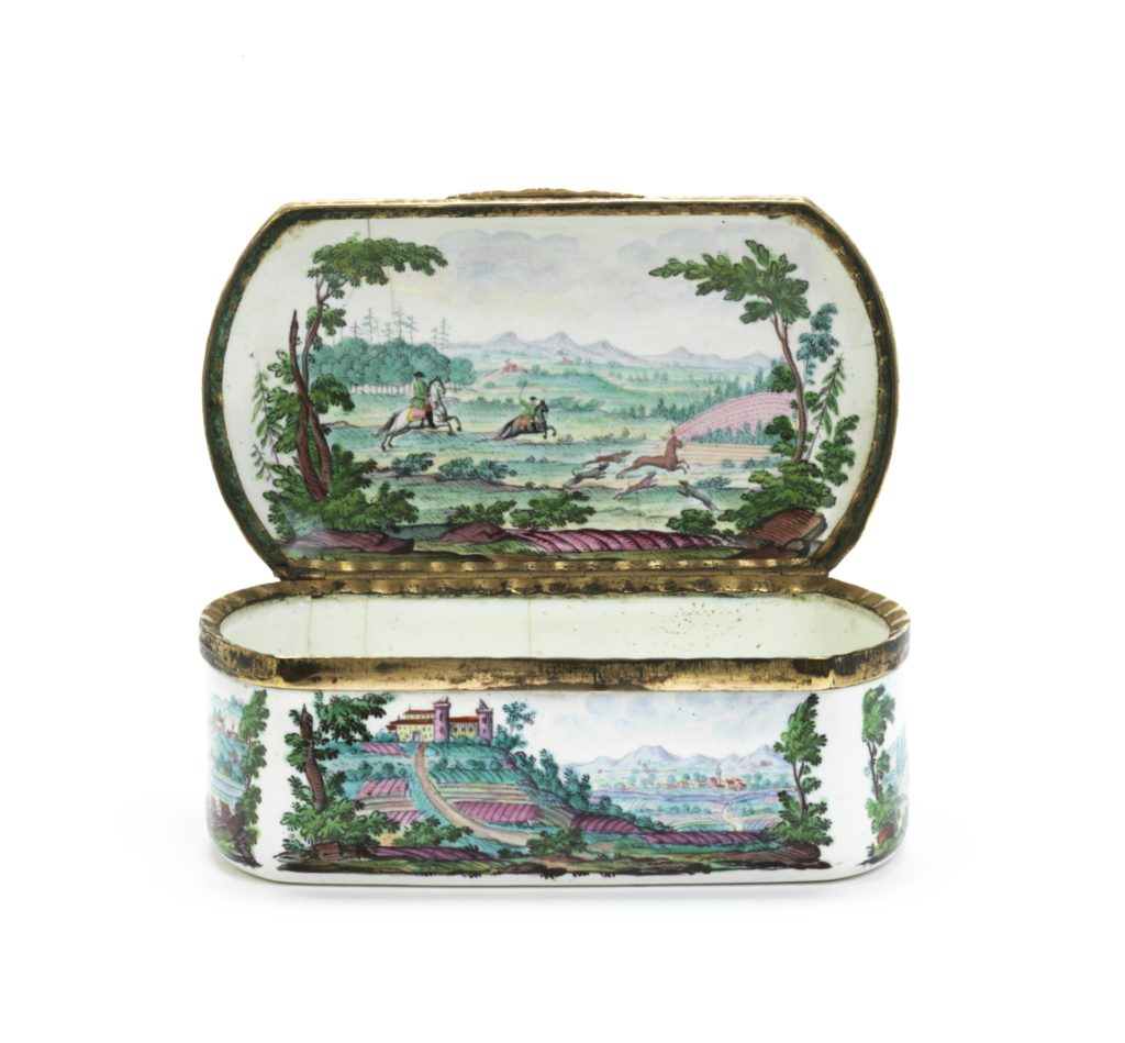 18th century Enamel Snuff Box Joh. Andreas Bechdolff Ellwangen ca. 1765