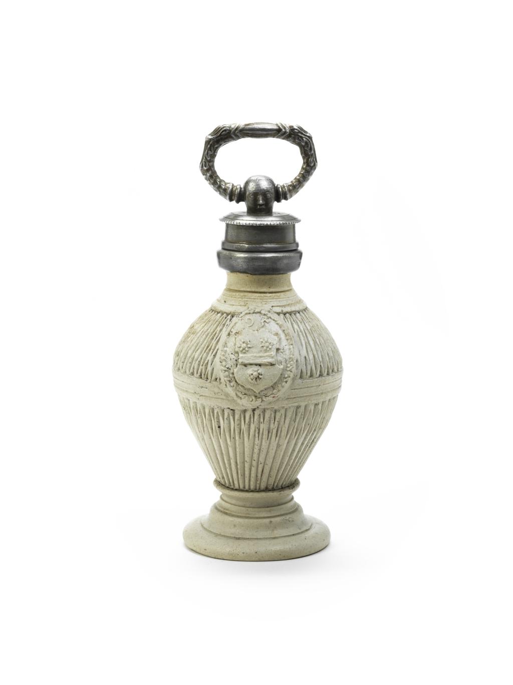 Salt Glazed Stoneware Siegburger Steinzeug Flasche 1595 datiert