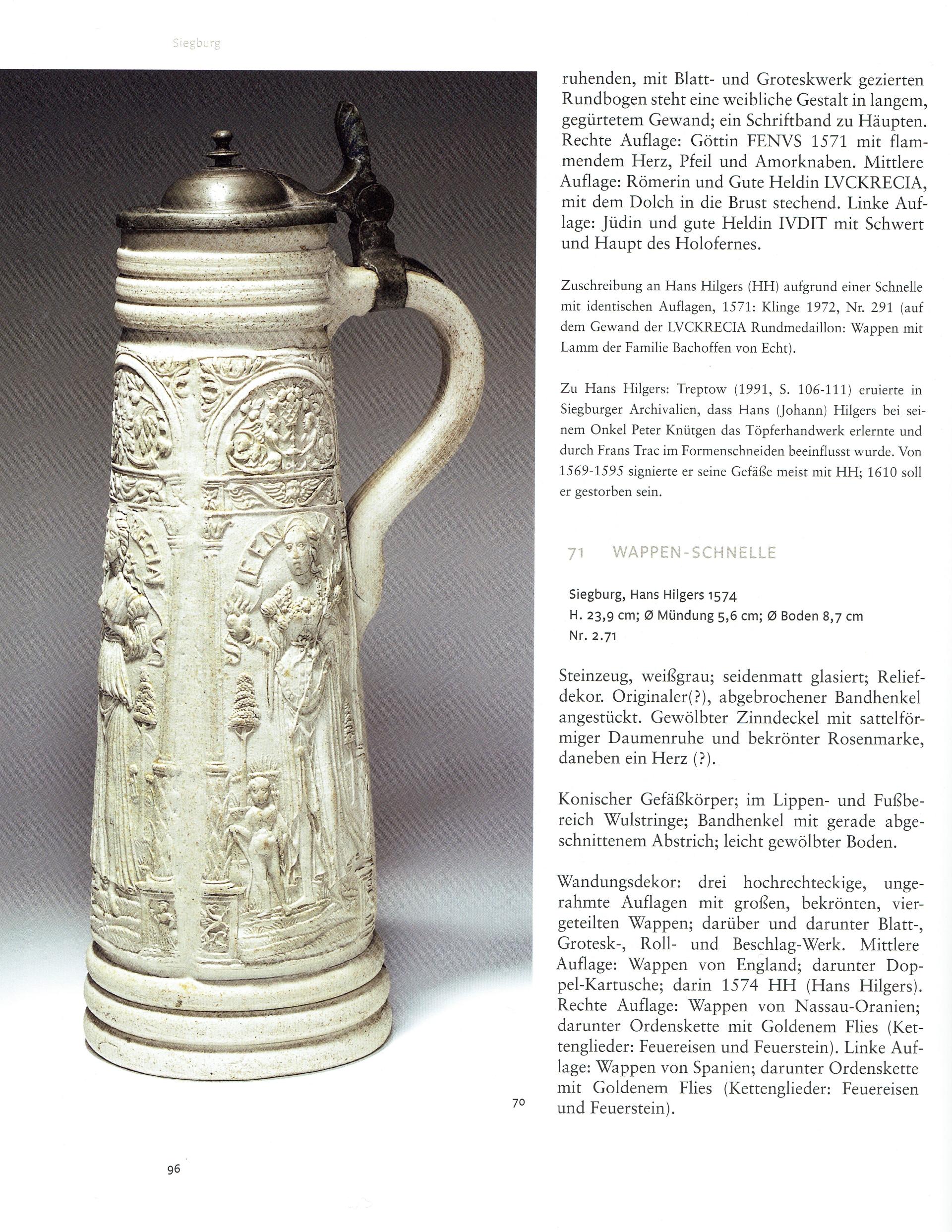 Amendt Krefelder Kunstmuseum die Kunst des Deutschen Steinzeugs Abb. 70