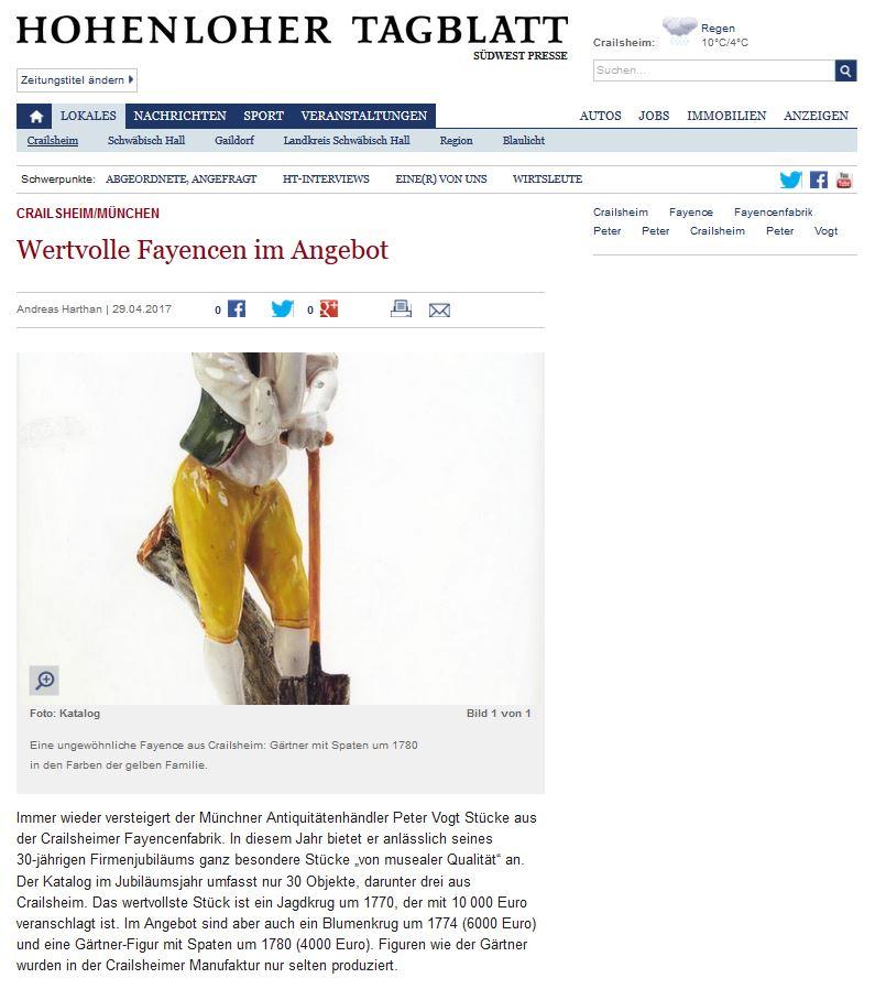 Hohenloher Tagblatt Andreas Harthan 29.04.2017