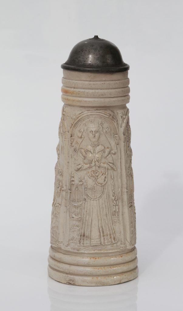 Siegburg salt glazed stoneware Schnelle dated 1565