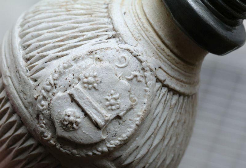 Siegburger Flasche Detail Wappen 1595 datiert