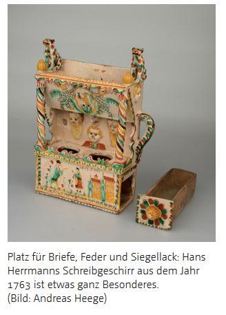 Schreibzeug Keramik Langnau Schweiz ca. 1763