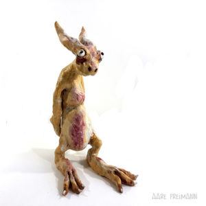 aare Freiman Ceramic Sculpture rabbit