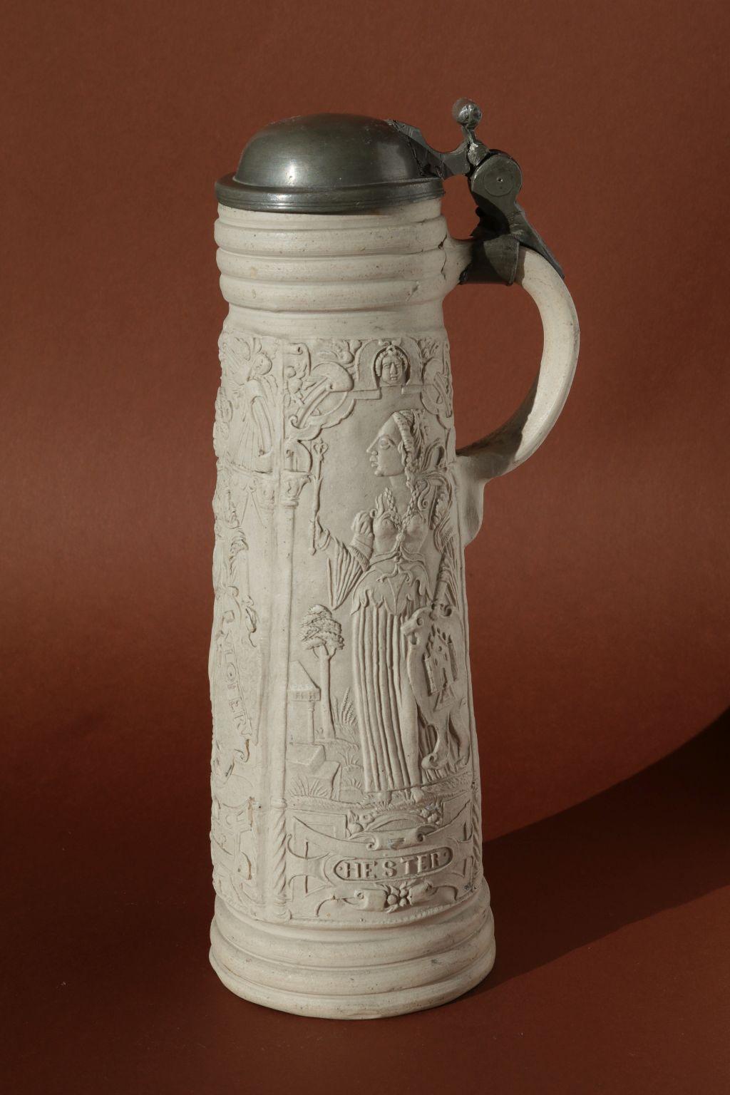 16th century stoneware Siegburg Flagon ca. 1580 Hans Hilgers