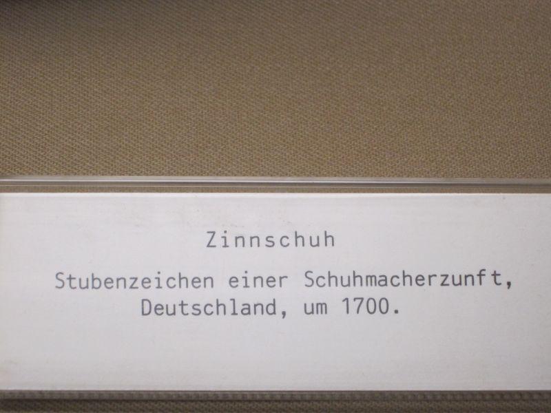 Bally Schuhmuseum Bezeichnung Zinnschuh Deutschland um 1700