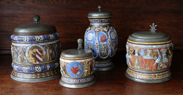 17th century Saltglazed Creussen Stoneware Collection