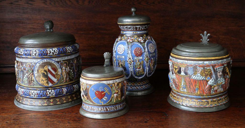 17th century Saltglazed Creussen Stoneware Collection