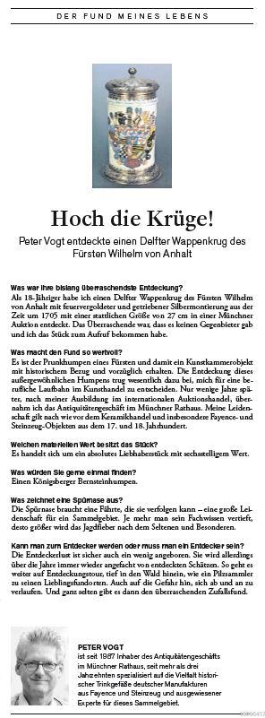 Der Fund meines Lebens Peter Vogt Kunst und Auktionen 15 2018