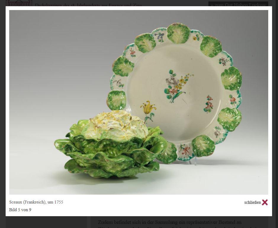 Gut Hohen Luckow Terrine Sceaux um 1755