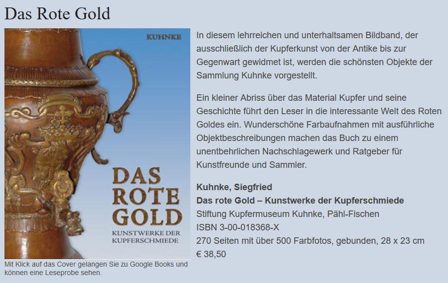 Kuhnke, Siegfried Das rote Gold – Kunstwerke der Kupferschmiede