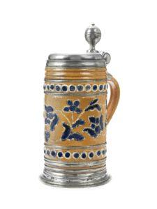 18th century Altenburg Saltglazed Stoneware Stein dated 1723