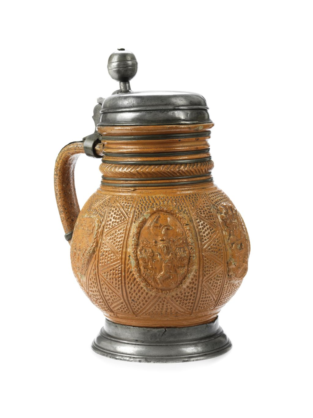 17th century Altenburg Saltglazed Stonware Jug ca 1680