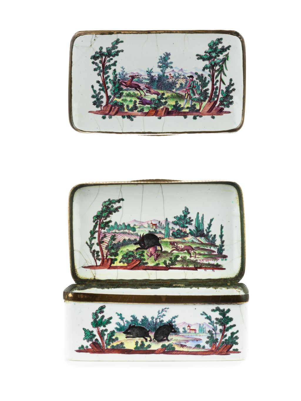 18th century Hunting Snuff Box Joh. Andreas Bechdolff ca. 1770