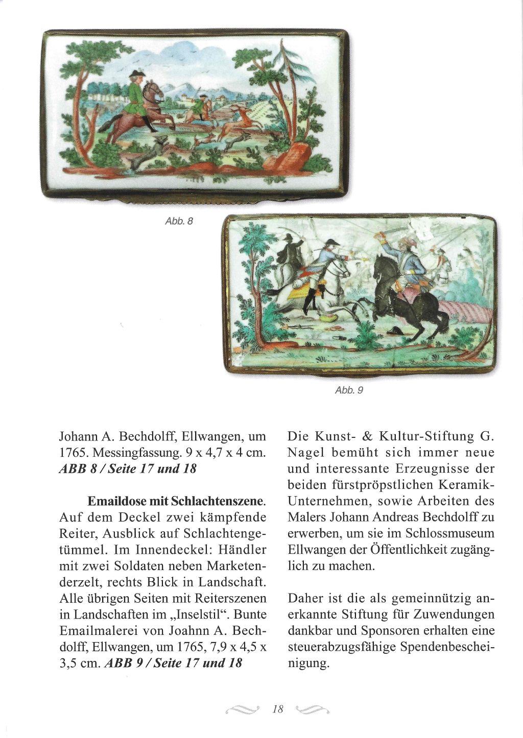 unst- und Kulturstiftung G. Nagel Bechdolff Emaildose S. 18
