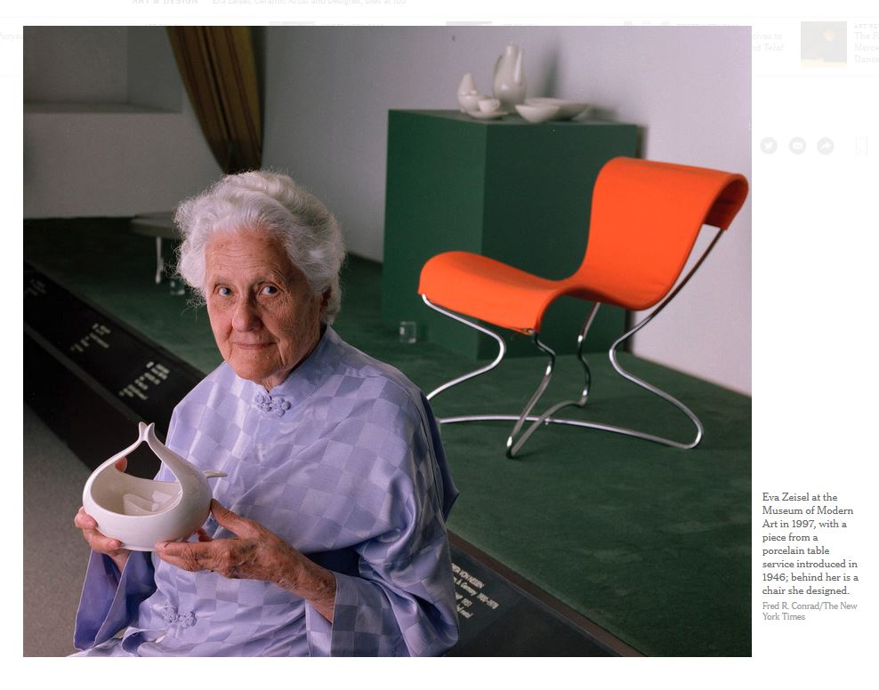 Eva Zeisel MoMA Foto Fred R. conrad for New York Times 1997