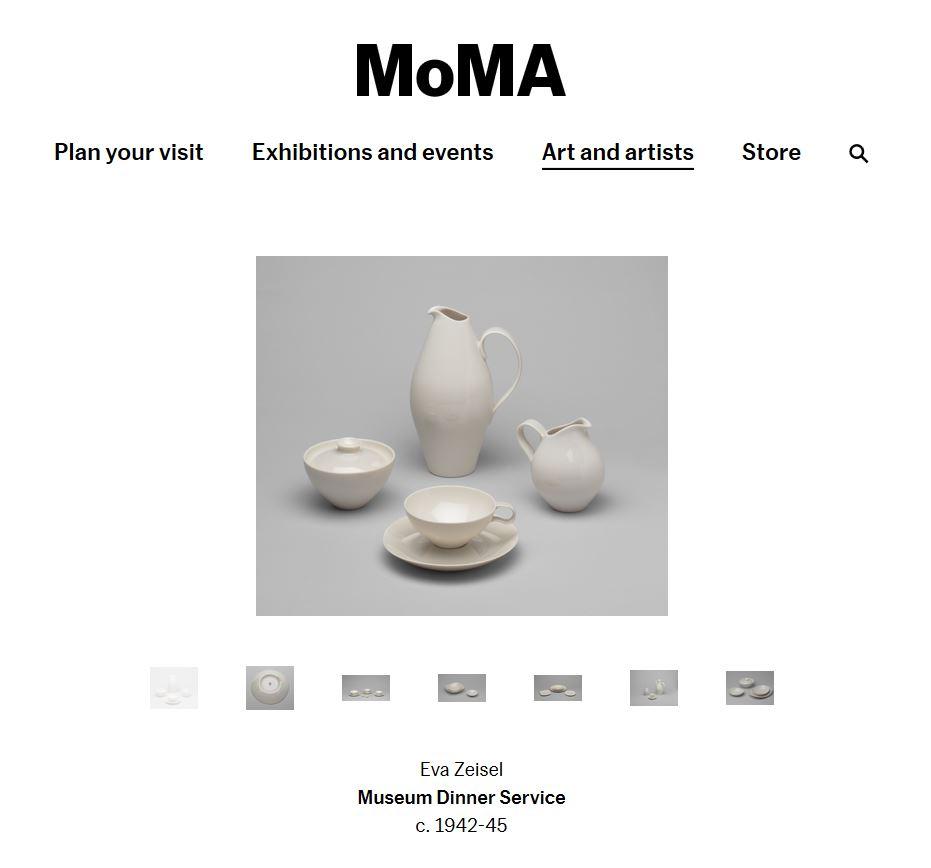 Moma Eva zeisel Museum dinner service
