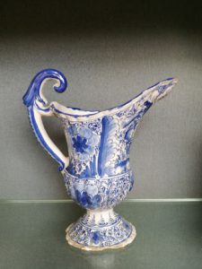 18th century Faience Pitcher Nurnberg ca 1750