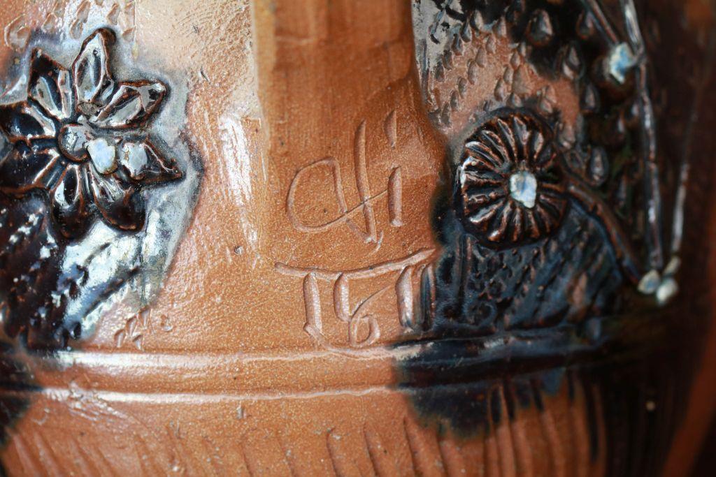 Muskau Steinzeug Kanne Detail Datierung 1811