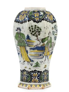 Baroque Berlin Faience Vase 18th century Cornelius Funcke