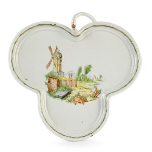 Baroque Durlach Faience Charger 18th century trefoil