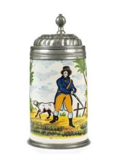 Crailsheim Faience Hunting Jug ca. 1800
