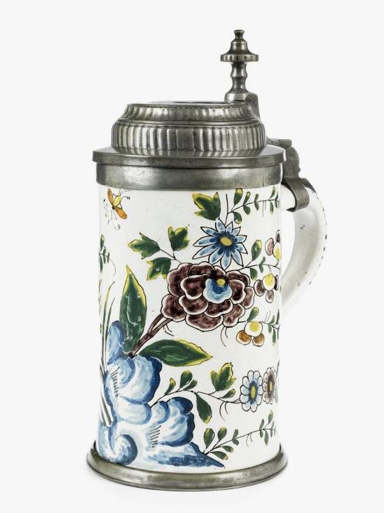 Friedberg Faience Tankard 18th century Markers Mark