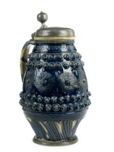 17th century Muskau Blue Glazed Stoneware Tankard