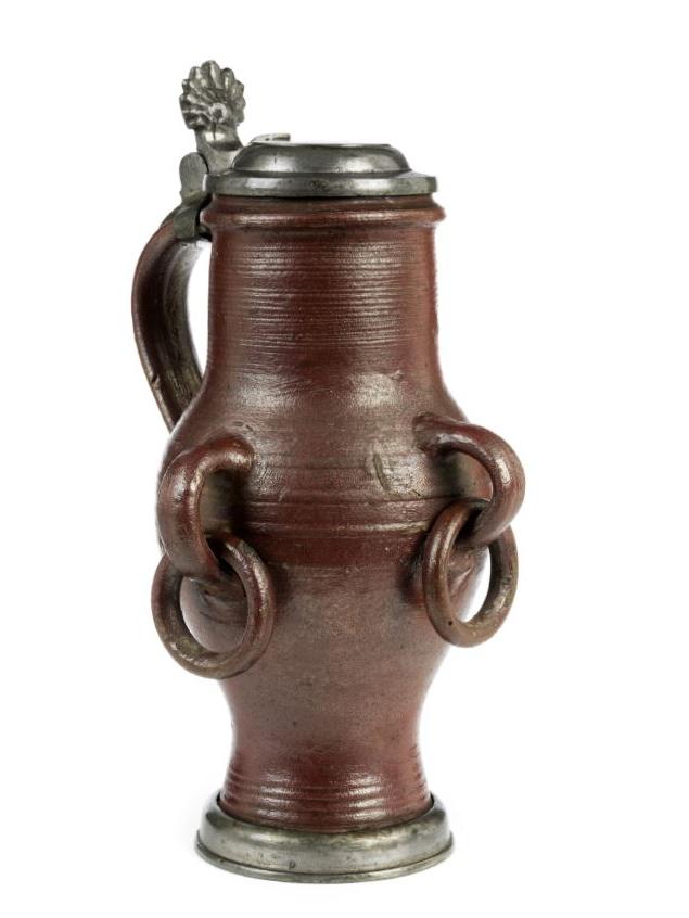 Barocker Dreihausener Steinzeug Ringelkrug um 1780