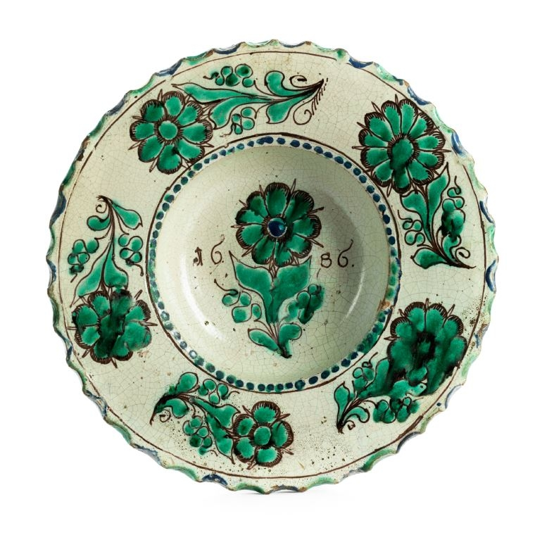17th century works of art Zittau Faience Charger
