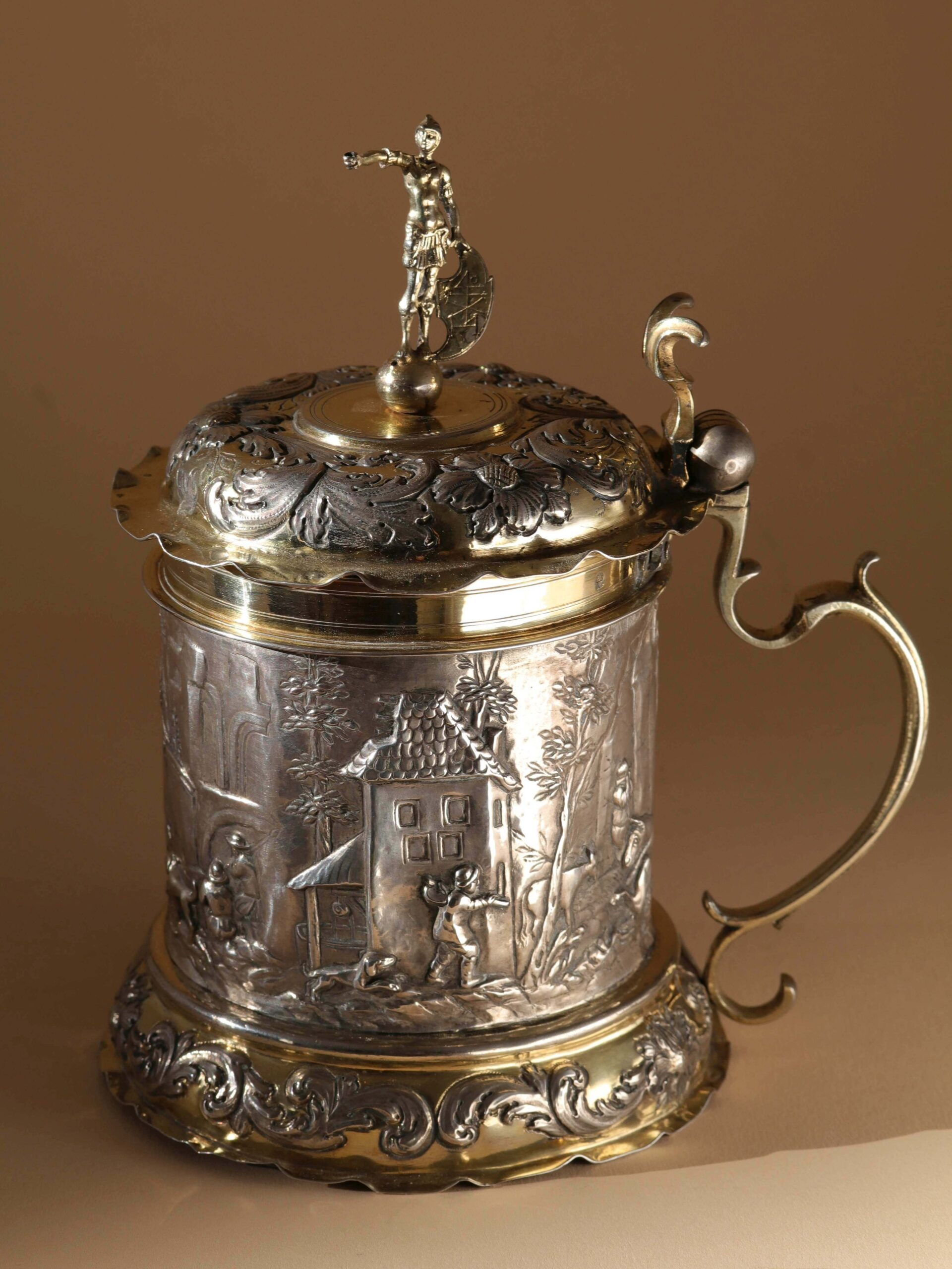 Augsburg Silver Tankard mid-17th century; mark of D. Schwestermüller
