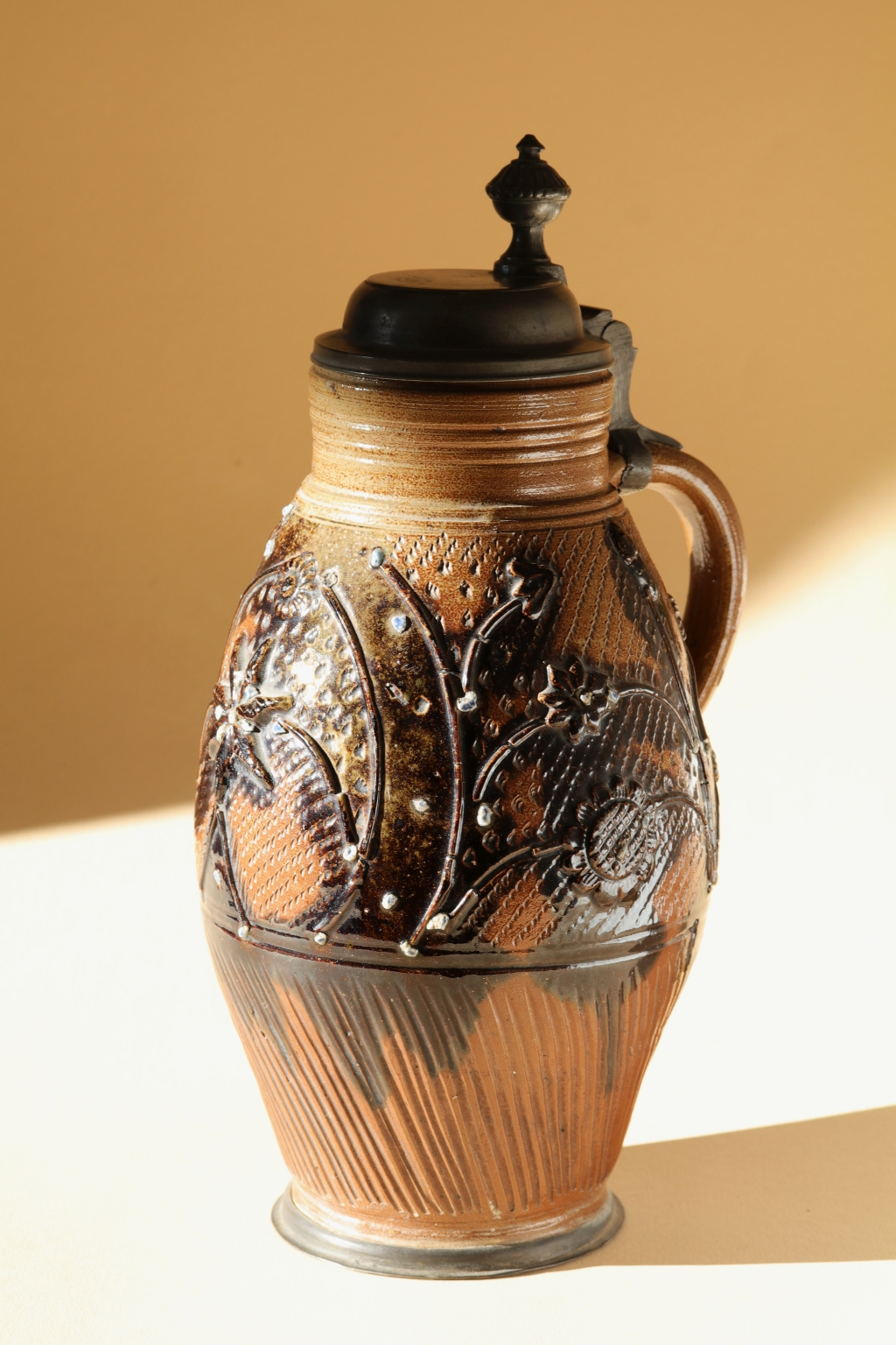 Muskau saltglazed stoneware tankard dated 1811
