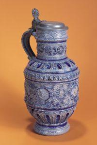 16th century works of art Raeren Saltglazed stoneware jug workshop mennicken