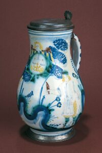 17th century Salzburg Faience Jug workshop Obermillner bakers guild
