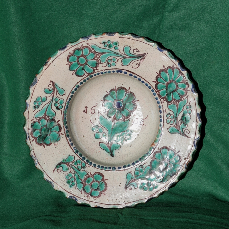 Rare 17th century Zittau Faience Charger dated 1686