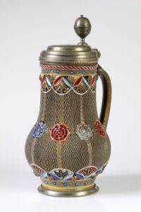 17th century works of art Freiberg polychrome stoneware Jug