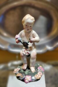 18th century Friedberg Faience Putto