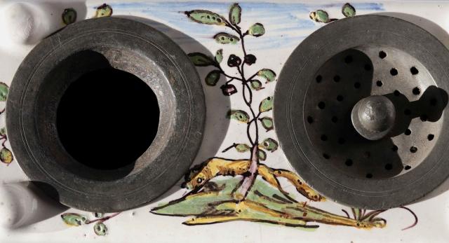 18. Jh. Fayence 7.Crailsheimer Schreibzeug um 1770