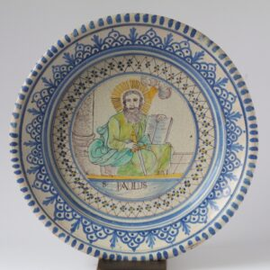 18th century Gmunden Faience Plate with Paulus