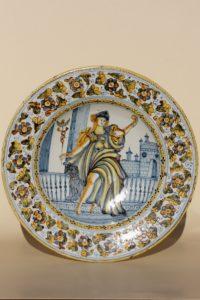 17th Century Castelli Majolica Plate