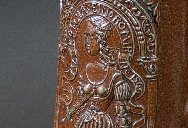 Raeren Schnelle Jan Emens saltglazed stoneware 16th century
