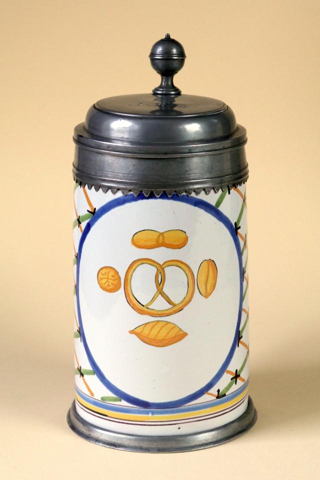 18th century Crailsheim Faience Tankard Bakers guilt