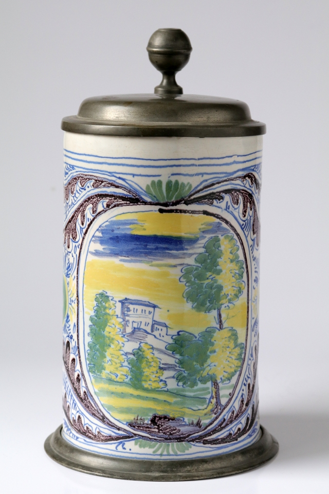 Baroque Nurnberg Faience Tankard 18th century