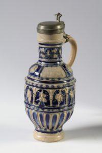 Westerwald saltglazed stoneware Middle Frieze Jug 16th century